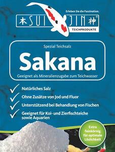 1,19€/kg SAKANA 25kg Teich salz (Natriumchlorid) zur Vitalisierung Ihrer Koi