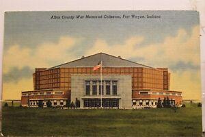 Indiana IN Fort Wayne Allen County War Memorial Coliseum Postcard Old Vintage PC