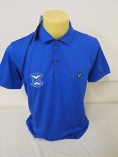 "Lyle & Scott Club Golf Homme broderie Pat Polo Duke Bleu L 41"" tour de poitrine NEUF"