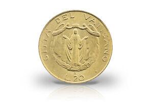 20 Lire 1987 Vatican Pape Johannes Paul Ii. Maria Et Ange