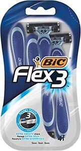 Shaving Razors Men's Blades Straight Barber Salon Flex 3 Pack 4 BIC