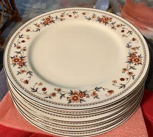 "Set 6 ~Vintage Sheffield Anniversary Porcelain Fine China Dinner Plates 10 1/4"""