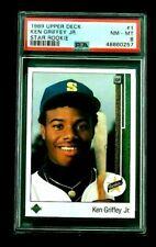 Ken Griffey Jr PSA 8 1989 Upper Deck RC #1 Seattle Mariners Graded Rookie NM-MT