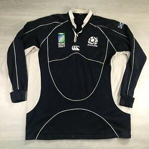 Rare Canterbury CCC Scotland Rugby 2007 World Cup Long Sleeve Shirt - Size XXL