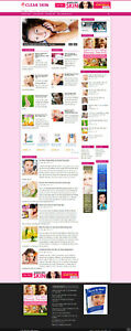 SKIN CARE TIPS WEBSITE WITH NEW DOMAIN - AFFILIATES & FREE HOSTING