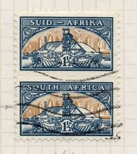 South Africa 1950s Pictorial Issue Fine Used 1.5d. Pair