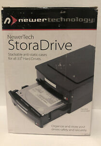 """NewerTech StoraDrive Anti-Static Case for 3.5"""" Hard Drives, 2 Pack. NEW IN BOX"""