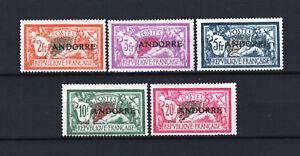 "ANDORRE FRANCAIS STAMP TIMBRE 19 / 23  "" 5 MERSON 1931 "" NEUF xx TTB  R655"