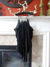 VICTORIA'S SECRET COVER UP BEACH DRESS BLACK SIDE COWL COVERUP L LARGE