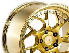 18x9.5 Aodhan DS01 5x100 +35 Gold Vacuum Rims Fit Subaru Legacy Wrx Frs Brz 2014