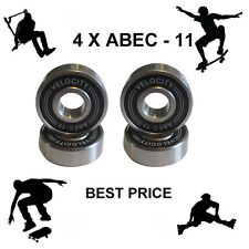 4 Velocity Abec 11 Wheel bearings Skateboard scooter Quad inline Roller skate 9
