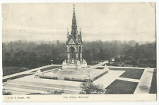 London - Albert Memorial, Kensington Gardens - 1906 FGO Stuart Postcard