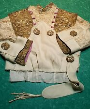 1900s cream gold bullion lace top