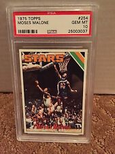 1975 Topps #254 - MOSES MALONE RC - PSA 10 Gem Mint - Utah Stars ROOKIE