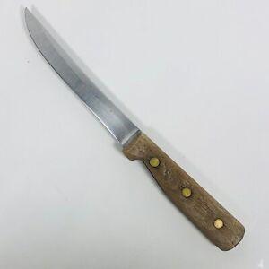 "Vintage Chicago Cutlery USA Walnut Handle 61S Utility Boning Knife 6"" Blade"