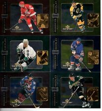 1999-2000 MVP - Hands Of Gold 6 card lot inc. Gretzky, Yzerman, Forsberg etc.
