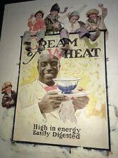 Cream Of Wheat Ad Rastus  Black Man Memorabilia 1923 Kids Snowball Brewer Art
