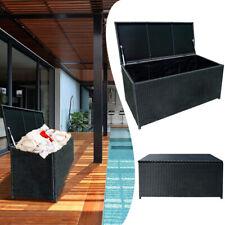 Aufbewahrungsbox Polyrattan Kissenbox Gartenbox Kunststoff Wasserdicht MAX 360L