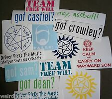 Supernatural Decal 5 Pack of Vinyl Stickers Surprise Grab Bag Lot Deal SALE
