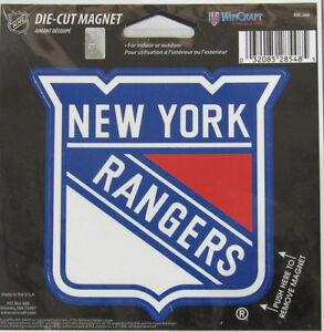 NHL New York Rangers 4 inch Auto Magnet Die-Cut by WinCraft