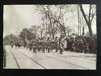 👍  1927 CHINA SHANGHAI CONCESSION VOLUNTEER CORP TROOP PARADE PHOTO 上海租界志愿军