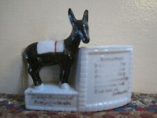Vintage Ceramic Donkey BAROMETER Japan Planter