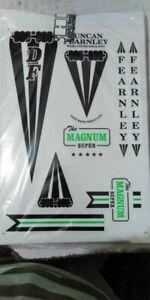 Retro Classic Cricket Bat Stickers 1 FULL SET Fast & Free Post
