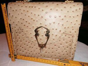 Handtasche Straußenleder Vintage Edel Luxus Top