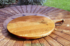 WINE BARREL PIZZA PLATTER WITH HANDLE OR CUTTING BORED