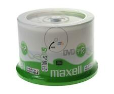 50 x Printable Maxell DVD+R Blank Recordable Discs DVDs SPINDLE Print - 50 Pack