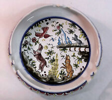 "Ceramic Ashtray with animals Portugal for Nora Fenton #261-22 signed 8"" SALE"