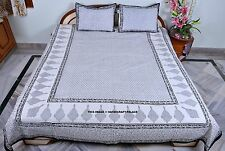 Indian Queen Cotton Bedspread Throw Hippie Bed Cover With Pillow Cover Handmade