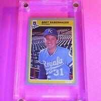 1985 FLEER #212 Bret Saberhagen ROOKIE RC NmMt Sharp Kansas City Royals