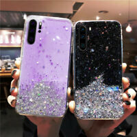 For Xiaomi Redmi Note 9 8 7 Pro 8T Mi 10 9T A3 Glitter Clear Silicone Case Cover