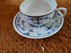 DENMARK BLUE Blue Lace Cup And Saucer BY FURNIVALS ENGLAND
