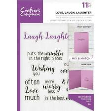 New  Crafters Companion rubber Stamp CLEAR word stamps LOVE LAUGH  free USA ship