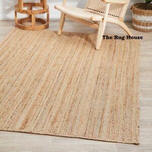 Rug 100% Natural Jute Braided style Runner Rug Reversible Area Carpet Rag Rug