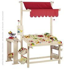 Marktstand, goki 51808, Kaufladen, Kaufmannsladen, Holzspielzeug