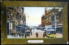 AUSTRALIA~1900's MELBOURNE ~ SWANSTON STREET ~ Queensbury St. Trolley