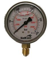 Aktion Hydraulik Manometer Ø63mm Glycerin Edelst. 0-250 bar Anschluss: unten