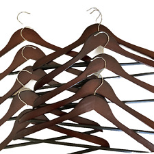 Honey-Can-Do Wooden Suit Hangers in Cherry Dorm Room Closet Organization Lot 10