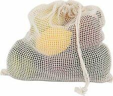 Eco Bags Organic Produce Bags Medium Net Sack with drawstring