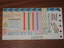 INTER JUVENTUS BIGLIETTO TICKET 1993/94 SERIE A
