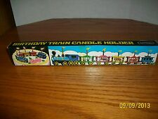 Vintage Birthday Train Candle Holder Topper in box