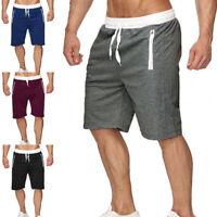 Men Summer Sweat Shorts Zip Pockets Fleece Casual Lounge Gym Jogger Sports Size