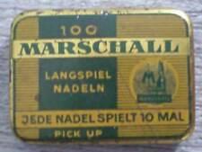 Boîte d'aiguilles pour gramophone phonographe Marschall langspiel nadeln pick up
