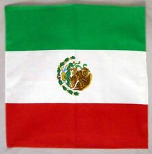 "Mexican Flag Cotton Bandannas Face Covers 21"" Square  ( BandannasMexico)"