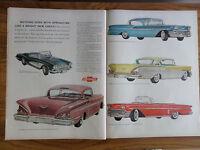 1958 Chevrolet Ad Corvette Impala Bel Air Sports & Convetible Springtime Chevy