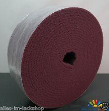 Schleifvlies Schleifpad auf Rolle feinkörnig 10cm x 10m zum Mattieren ROT
