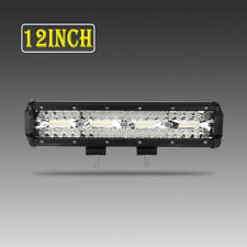 Tri-Rows 12inch 1080W LED Work Light Bar S&F Combo Offroad Driving 4WD Truck ATV
